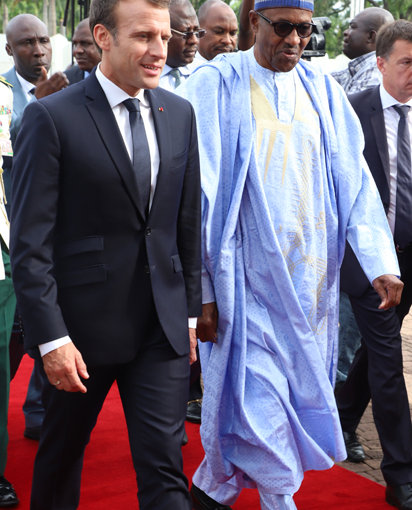 News Update :President Emmanuel Macron of France land in Abuja  on a visit(viewphotos)