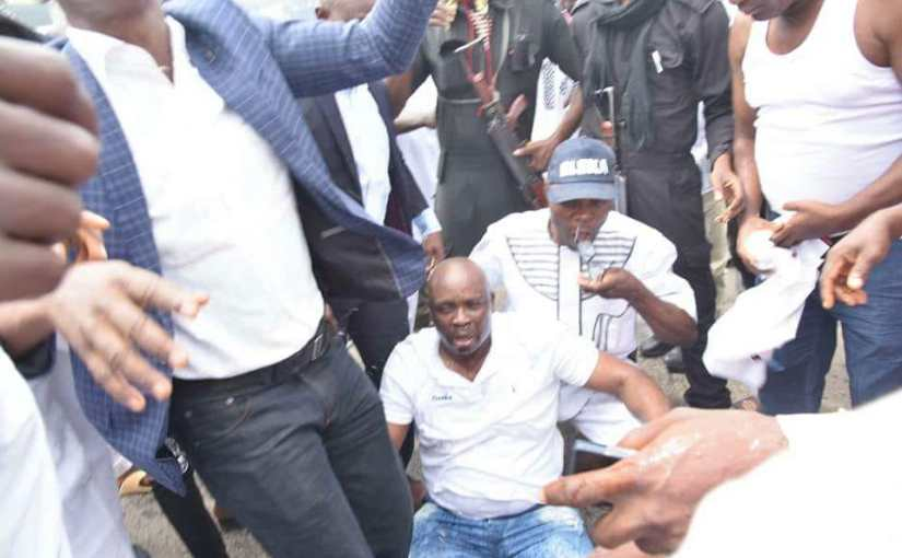 BREAKING NEWS! Governor Fayose Suffocate As Police Fire Teargas At Him(Photos)