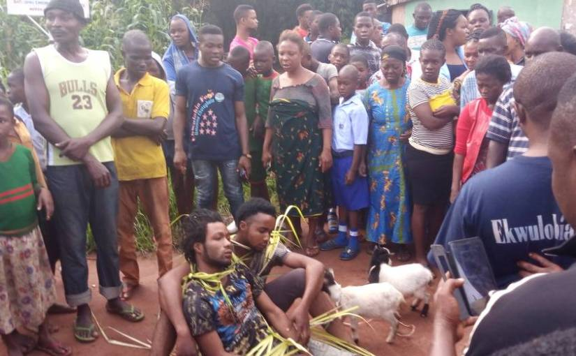 Ekwulobia Security Paraded  Two  Goat  Thieves Yesterday(views picturesbelow)