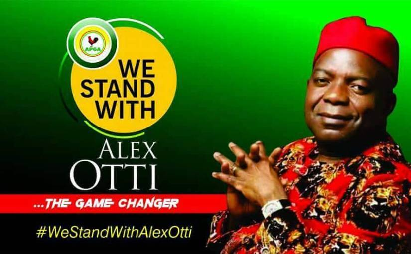 Dr Alex Otti, a former governorship candidate of the All Progressives Grand Alliance ( APGA ) in the 2015 general elections in Abia on Friday declared his interest to run again in 2019(Views picturesbelow)