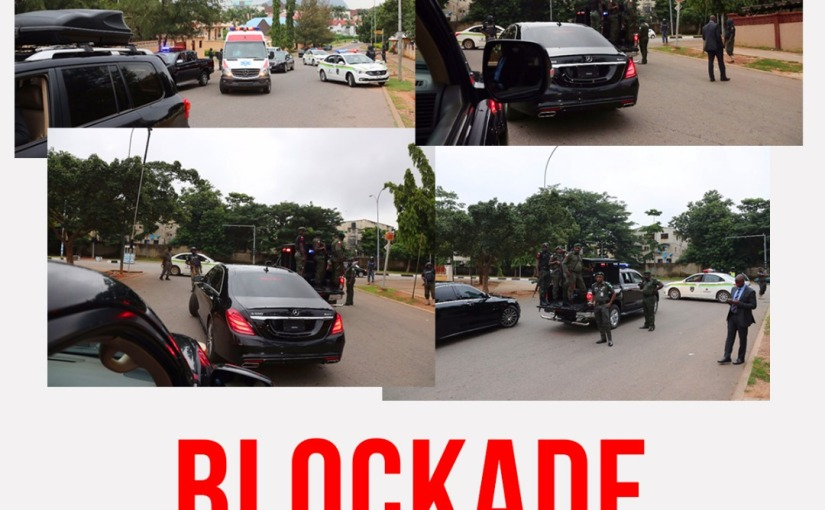 Breaking News : Police blocked Senate President convoy  from leaving his house. In another news breaking. DSS surrounds the deputy senate President house and His deputy Ike Ekweremadu(video (