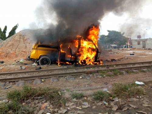 Breaking News :At Least Nine' Killed In Agege Train Accident Caused By 'Danfo' Driver