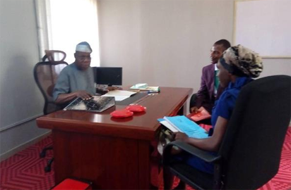 Obasanjo was appointed recently as a facilitator – an academic counsel for students – by the management of NOUN and getting resumed  work onThursday