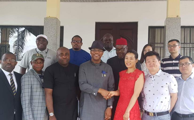 Chinese Consortium Visits Anambra, Plans Huge Investments.  By Obika Chidiebele