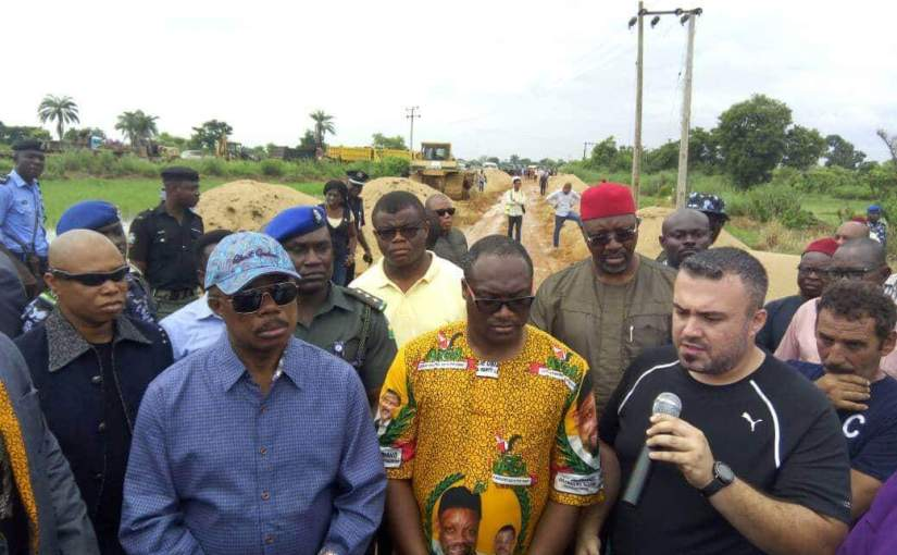 Obiano Flags  Off Construction Of  18KM  Road; Promises Democracy Dividends To  The People-Obika Chidiebele