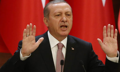Recep Tayyip Erdogan is due to be sworn in as Turkey's First Executive President with vastly expanded powers on Monday,