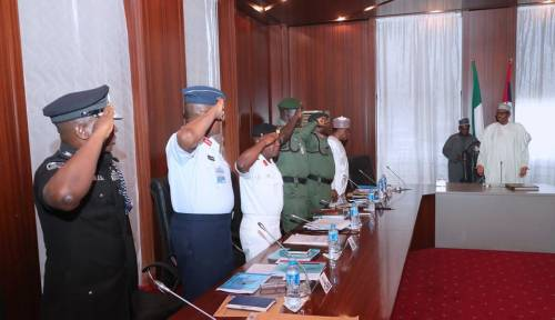 Breaking News :Anxiety As President Buhari is currently in a meeting with service chiefs