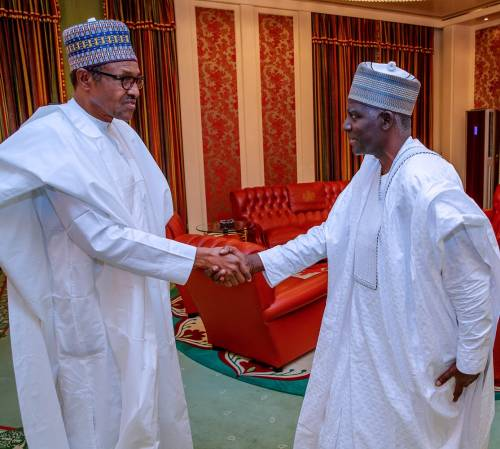 President Buhari Met  His Newly -Appointed DG Of The DSS, Yusuf Magaji Bichi.