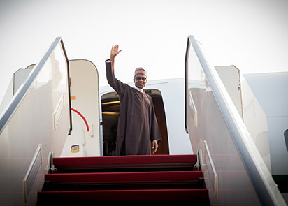 Buhari Depart To New York With His Wife For UN (GA73)