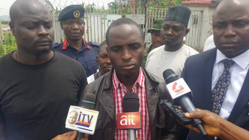 Breaking News:Man Who Climbed Airtel Mast To Protest Against Buhari Re-election Bids