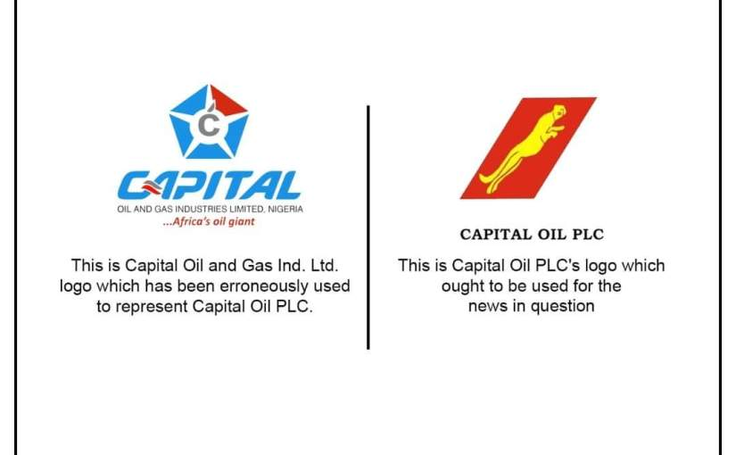 Capital Oil and Gas Ind. Ltd not Capital Oil PLC-Amb Adichie Izuchukwu