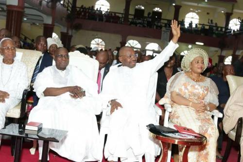 Obasanjo Endorses Udom For Second Term , Says No Need To Replace A GoodProduct