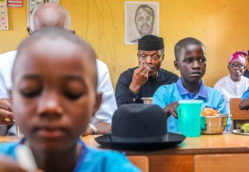 Osinbajo:FG's School Feeding Programme Costs $1.8m Per Day