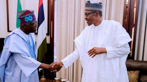 Breaking News : Tinubu In Closed-Door Meeting With Buhari