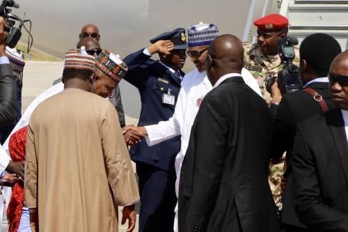 Breaking News:Buhari Arrives In Borno For Post-Boko Haram AttackVisit
