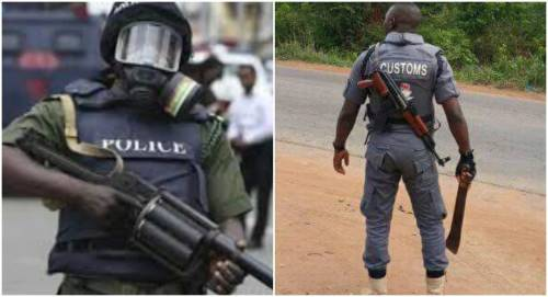 Policeman Kicked  As Customs Officers Gun Down Wife In Lagos