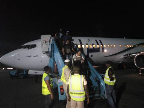 103 Nigerians Stranded In Libya Returned To Lagos With 13 Infants